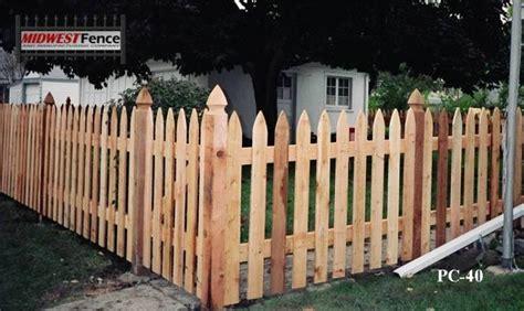 French Gothic Wood Picket Fences