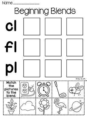 blends worksheets  activities beginning sounds