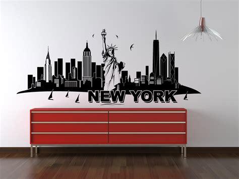 wandtattoo new york wandtattoo new york skyline mit freiheitsstatue wandtattoo