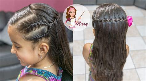 peinado de cascada con doble trenza facil y rapido para la escuela waterfall braid