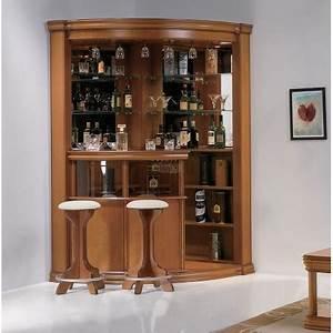 Meuble Bar Salon : bar massif tabourets damien meubles elmo ~ Teatrodelosmanantiales.com Idées de Décoration