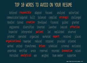 best words to put in a resume top 10 words to avoid on your resume impressive resumes net