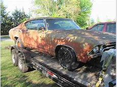 Find used 1969 chevy chevelle BARN FIND SS clone car 396 4