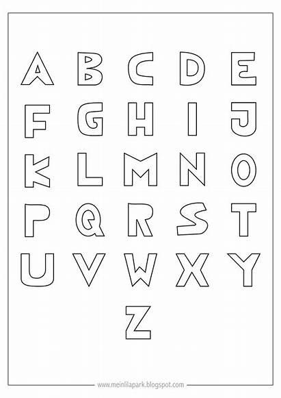 Alphabet Printable Coloring Letters Letter Ausmal Freebie