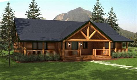 ranch style log home floor plans ranch style homes hickory log home floor plans