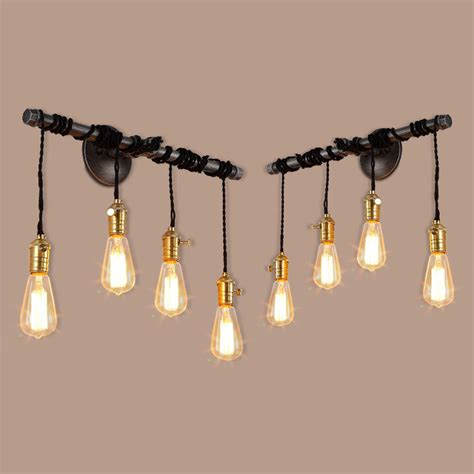 steunk l diy iron pipe light fixture industrial iron pipe light