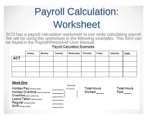 9+ Sample Payroll Time Sheet Calculators  Sample Templates. Word Business Report Template. Kids Birthday Invitations Online Template. Make A Family Tree Poster Template. Resume For Gym Receptionist Template