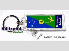 Country flag Solar Power Blinking Key Chain