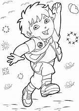 Diego Coloring Pages Go Printable Dora Print Cartoon Colouring Halloween Getcoloringpages Popular sketch template