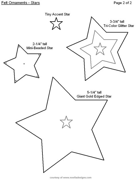 free printable felt christmas ornament templates sewing