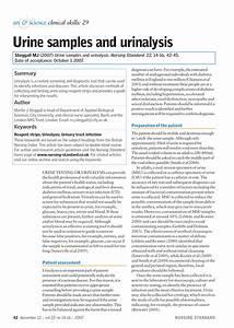 Pdf  Urine Samples And Urinalysis