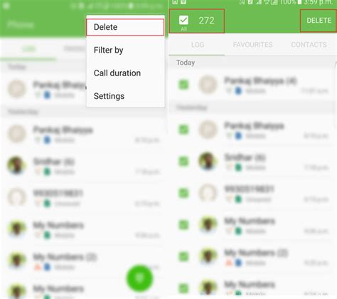 delete phone calls how to delete call log on android single all how to delete call log on android single all