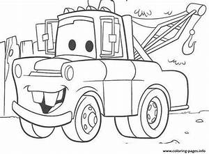 Disney Cars Mater Coloring Pages Printable