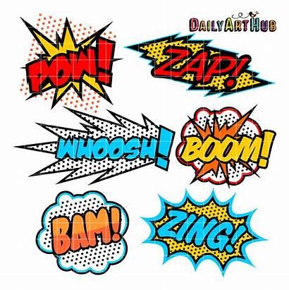 Superhero Clipart Clip Comic Callout Pow Dc