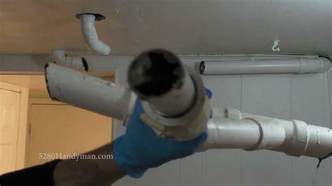 kitchen sink pipe replacement bathtub kitchen sink drain line replacement via basement 5894