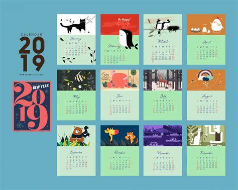 2019 Hd Desktop Calendar Wallpapers