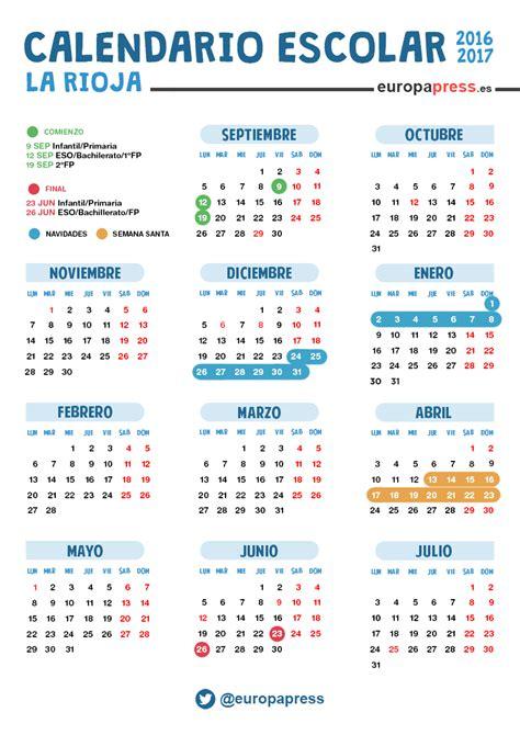 calendario escolar en la rioja navidad semana