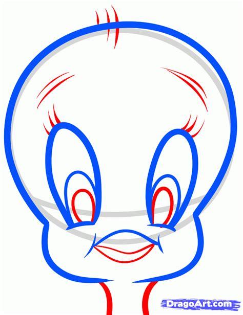 draw tweety easy step  step cartoon network