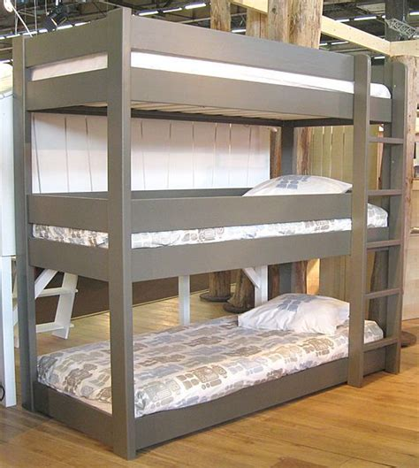 triple bunk beds bedroom home decor bunk bed plans
