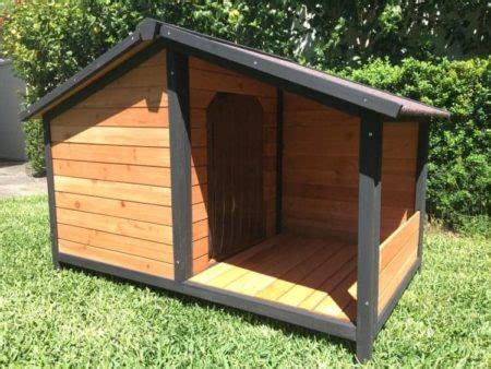 dog house somerzby cubby dog kennel  covered porch