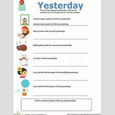 Get Into Grammar Past Tense  Worksheet Educationcom