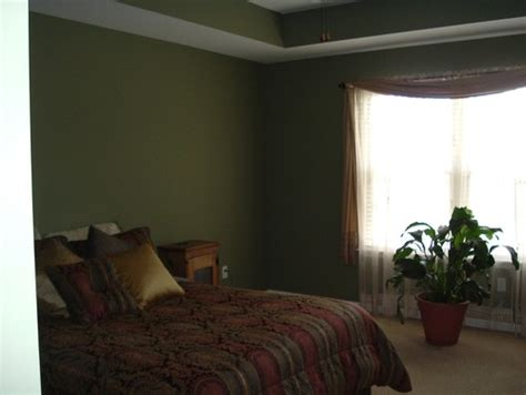 I Have A Really Dark Green Bedroom And Cherry Furniture