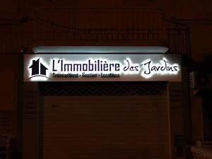 Enseigne Lumineuse Deco : enseigne lumineuse led agence immobili re panneau pub immobilier porte affiche leds toulon ~ Teatrodelosmanantiales.com Idées de Décoration