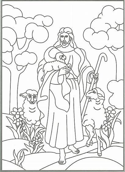 Shepherd Coloring Jesus Christ Primary Friend Happy
