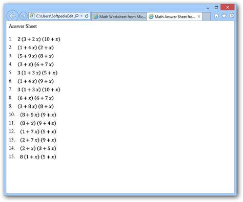 math worksheet generator