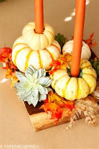 Halloween Striped Taper Candles by Top 10 Creative Diy Thanksgiving Decorations