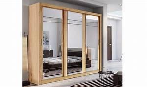 Armoire Bois Massif Porte Coulissante : armoire dressing 3 portes miroirs coulissantes lux ~ Teatrodelosmanantiales.com Idées de Décoration