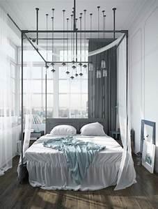 Lit Moderne Design : lit baldaquin moderne pour chambre d 39 adulte et d 39 enfant ~ Nature-et-papiers.com Idées de Décoration