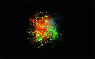Art Paint Splatter Black Background