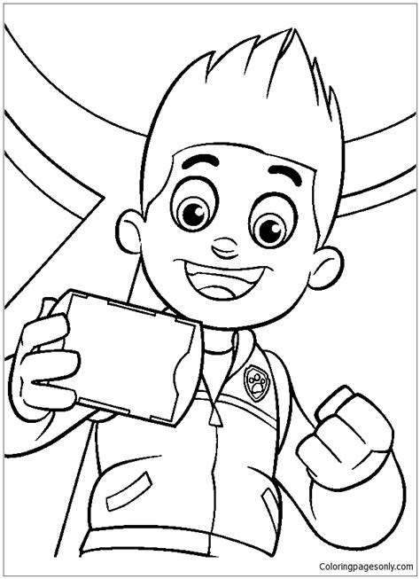 Ryder Boy Paw Patrol Coloring Page Free Coloring Pages