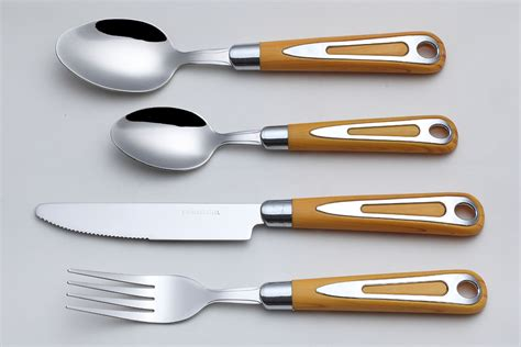 handle flatware wood collection wooden kitchen hanging food