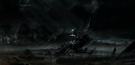 wallpaper trees drawing black digital art dark