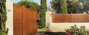 Portail Bois 4m : portail en bois exotique coulissant motoris photo 11 20 ~ Premium-room.com Idées de Décoration