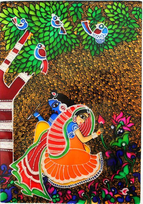 madhubani glass painting creative art