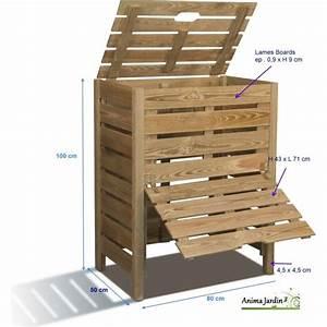 Composteur Pas Cher : composteur de jardin en bois 400 litres en pin trait autoclave burger pas cher ~ Preciouscoupons.com Idées de Décoration