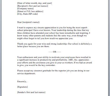 sample appreciation letter smart letters