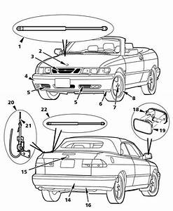 2003 Saab 9-3 Convertible Saab 9-3 Convertible Exterior Mechanical Diagram