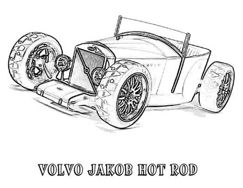 volvo jakob hot rod  car coloring page coloring sky