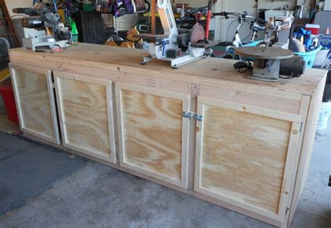 projects cheap workbench build  diy cabinet doors
