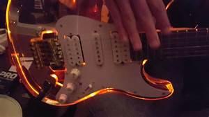 Spectrumaxe Fender Strat Led Light Up Acrylic See