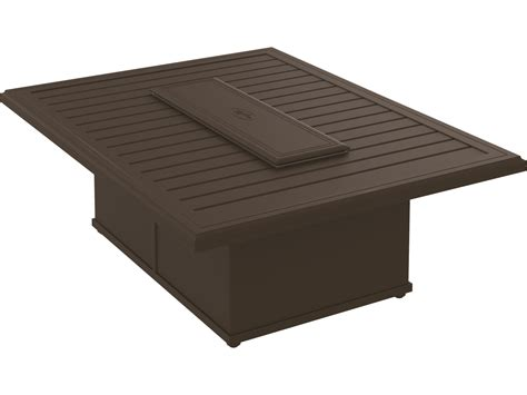 This range of output provides the user with versatility for variations in outdoor temperature and activities. Tropitone Banchetto Aluminum 54 x 42 Rectangular Fire Pit ...