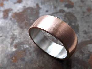 Copper Wedding Ring Mens Promise Ring Bold Copper Ring