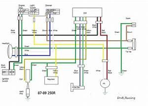 1989 Honda Trx250r Wiring Diagram