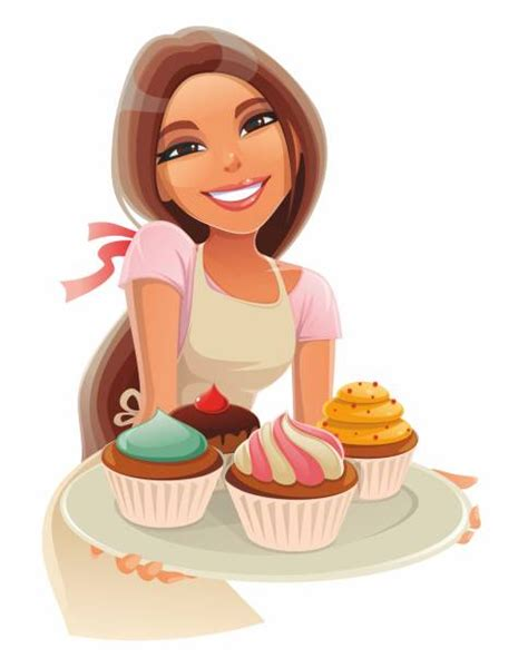 woman eating cake illustrations royalty  vector