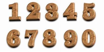 Numbers Transparent 3d Wooden Background Polished Backgr