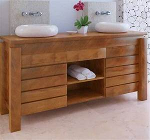 Meuble Sdb Teck : meuble bas salle de bain teck ~ Teatrodelosmanantiales.com Idées de Décoration